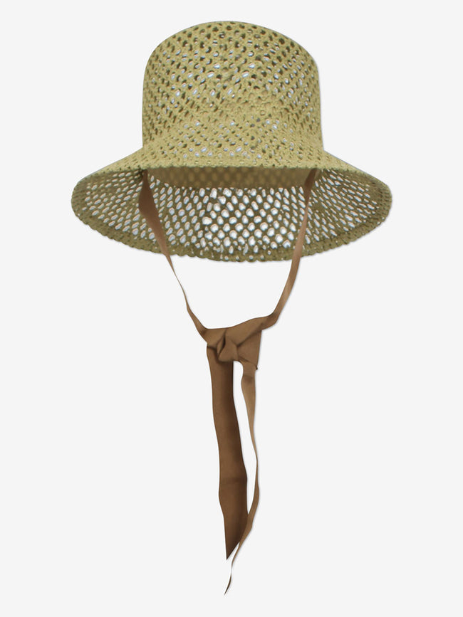 LIZA STRAW HAT - MOSSTONE GREEN