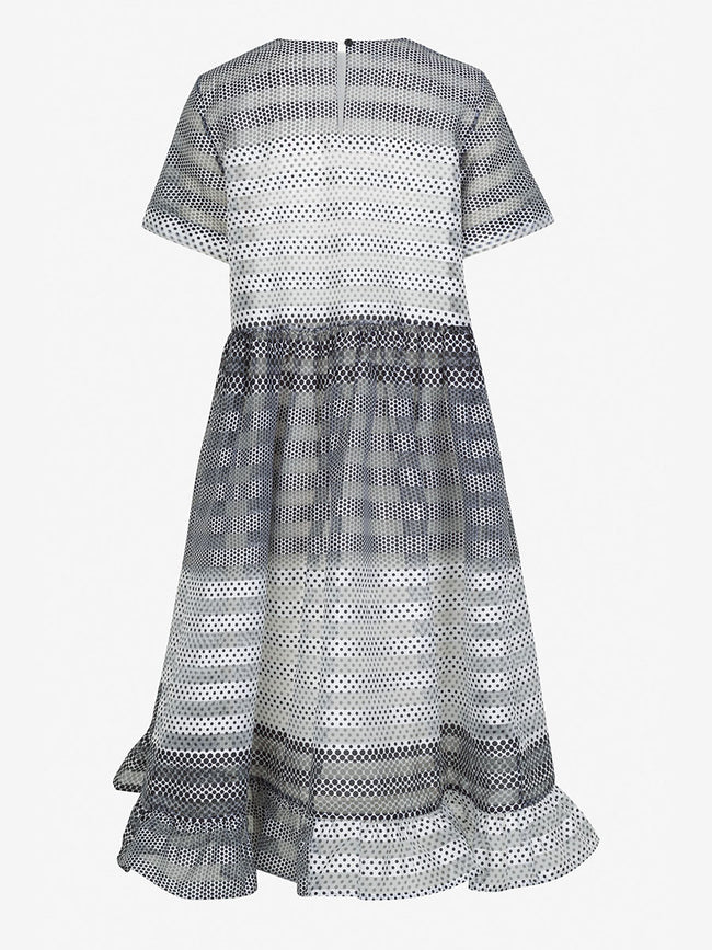 ARIA SHEER ORGANZA DRESS - POLKA DOT GRADIENT