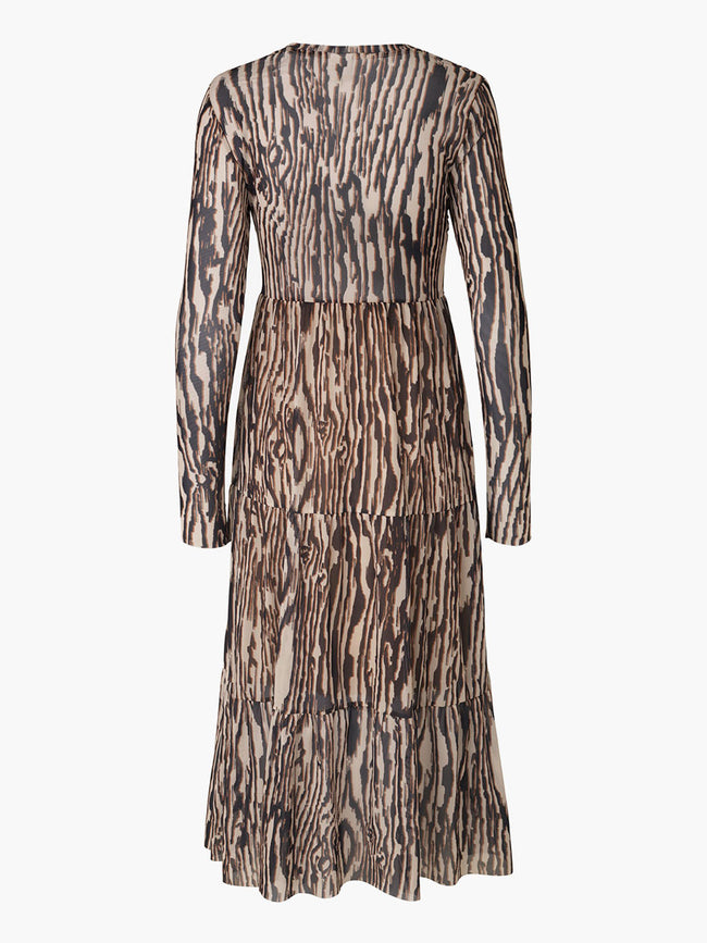 JOCELINA MESH MIDI DRESS - NATURE WOOD