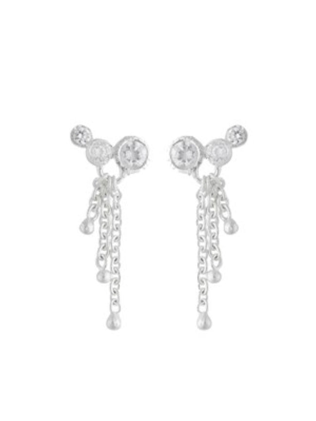 FRENCH LILY EARSTUDS - SILVER