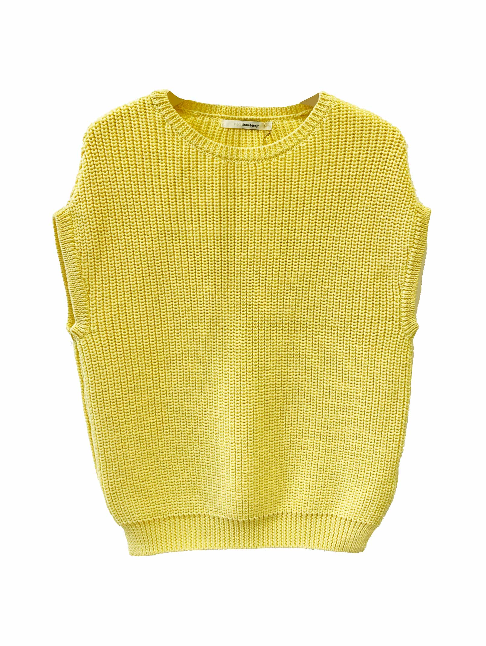 EMMA SLEEVELESS JUMPER - PALE YELLOW