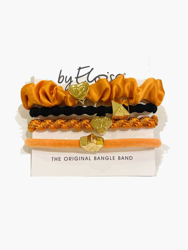 PACK OF 4 HAIRBANDS - ORANGE