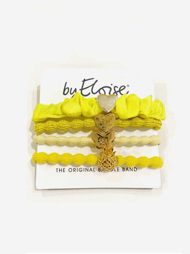 PACK OF 4 HAIRBANDS - YELLOW