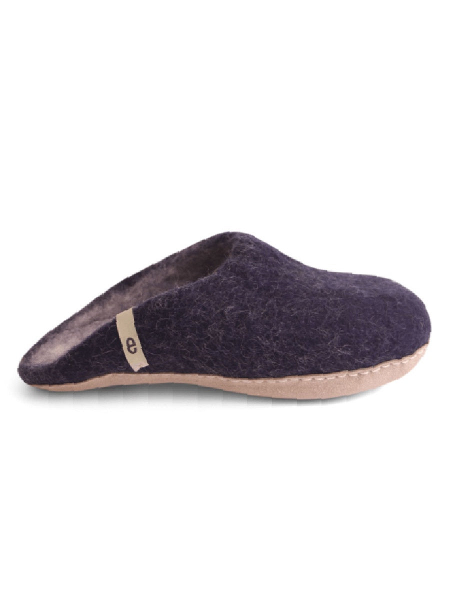 WOOL SLIPPERS - BLUE