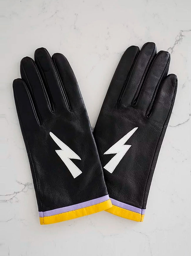 LEATHER GLOVES - ZIGGY STARDUST BLACK