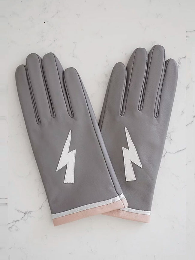 LEATHER GLOVES - ZIGGY STARDUST GREY