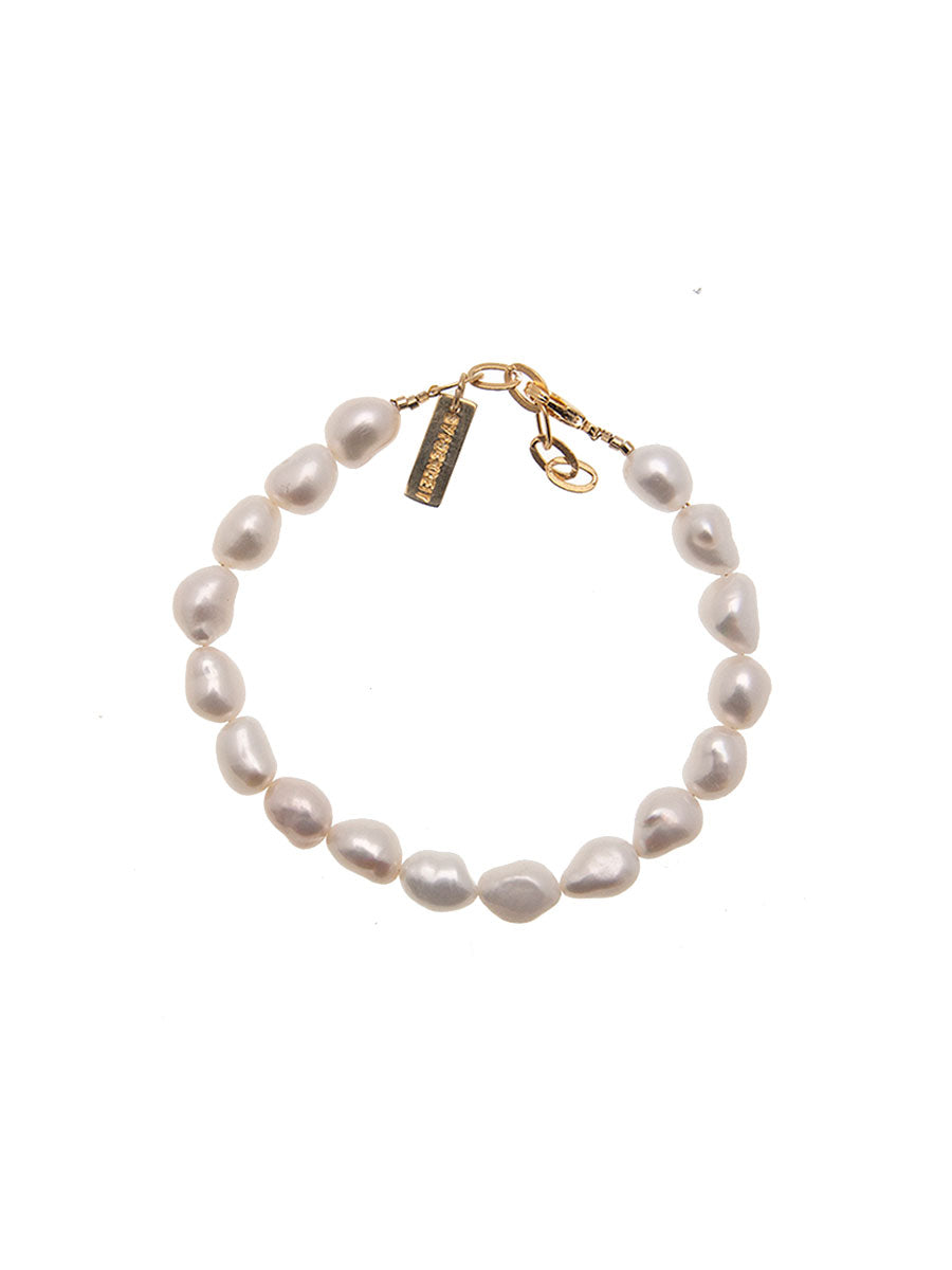 FULL BAROQUE PEARL BRACELET - GOLD
