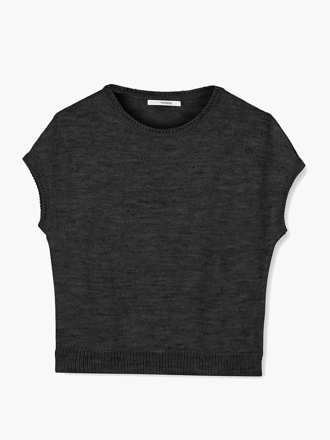 ASPEN SLEEVELESS JUMPER - ANTRAZIT