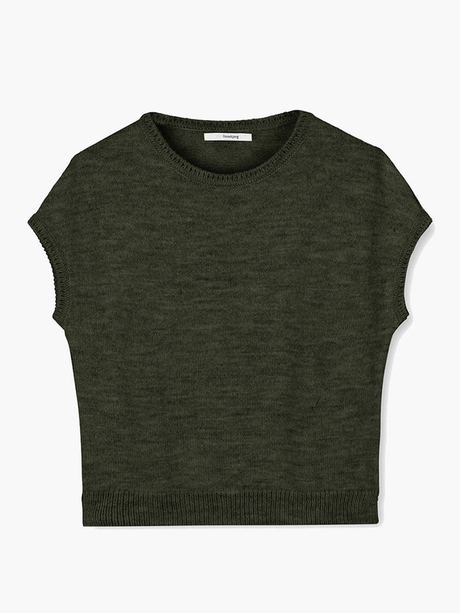 ASPEN SLEEVELESS JUMPER - ARMY GREEN
