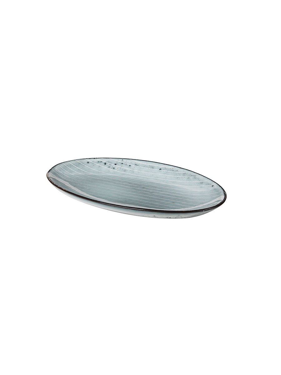 SMALL OVAL PLATE - NORDIC SEA