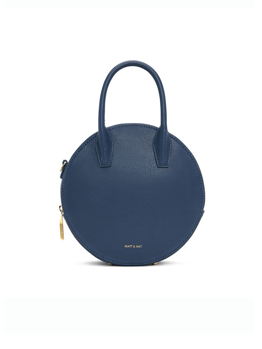 KATESM VEGAN ROUND CROSSBODY BAG - COSMO BLUE