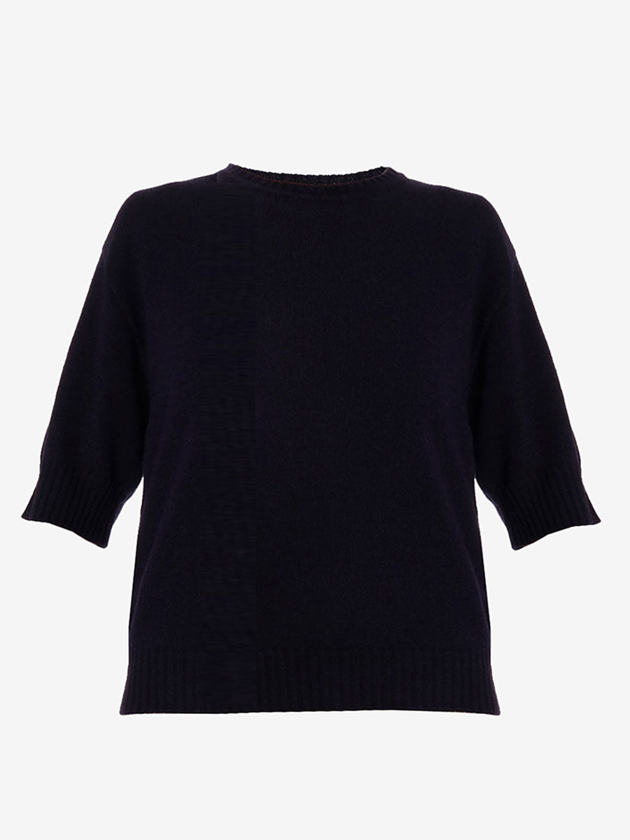 KIOMRA SHORT SLEEVE JUMPER - NAVY