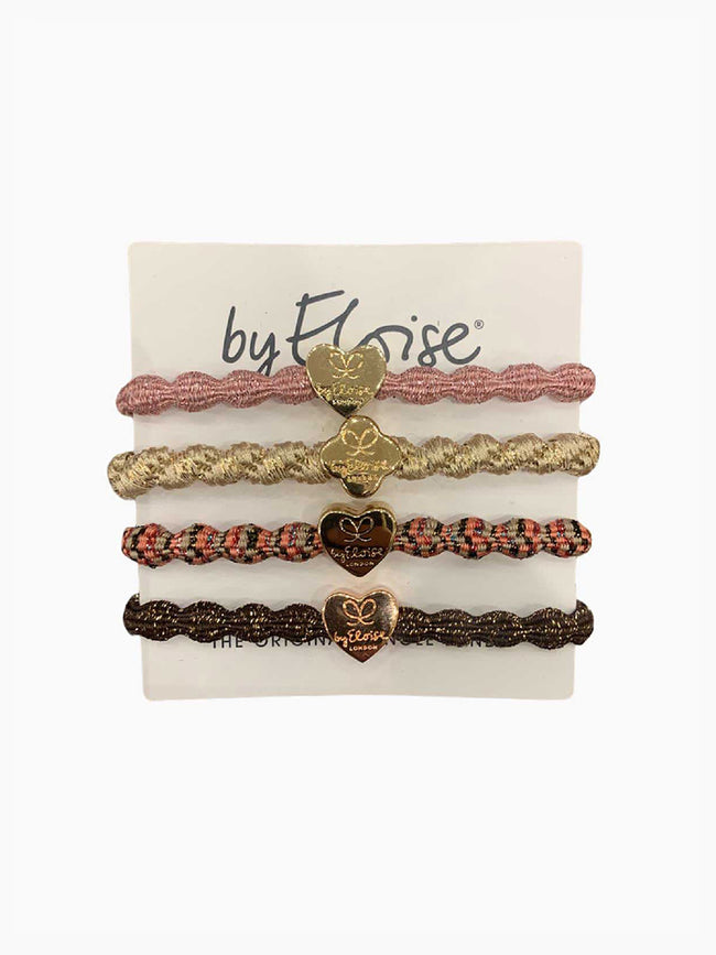 PACK OF 4 HAIRBANDS - DUSTY PINK MULTI