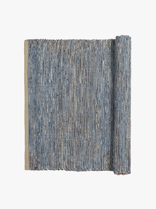 MEDIUM MAGDA RUG - FLINT STONE BLUE