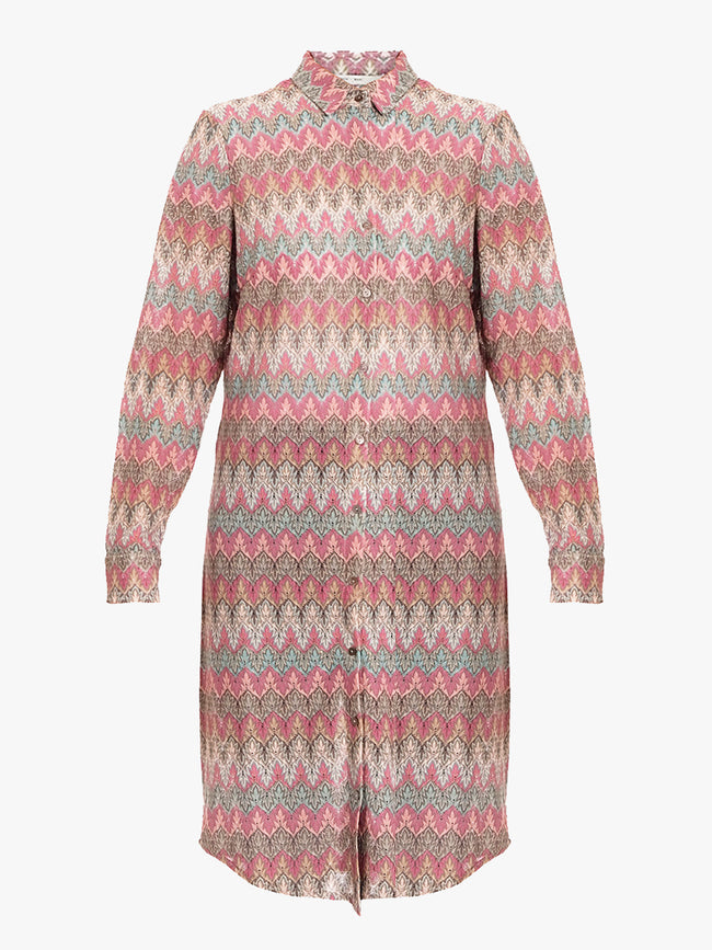 CHARLOTTA SHIRT DRESS - MISSIONI MINT/PINK