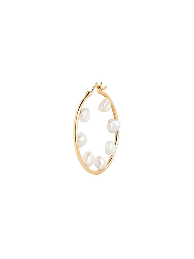 BAROQUE 35 HOOP - GOLD