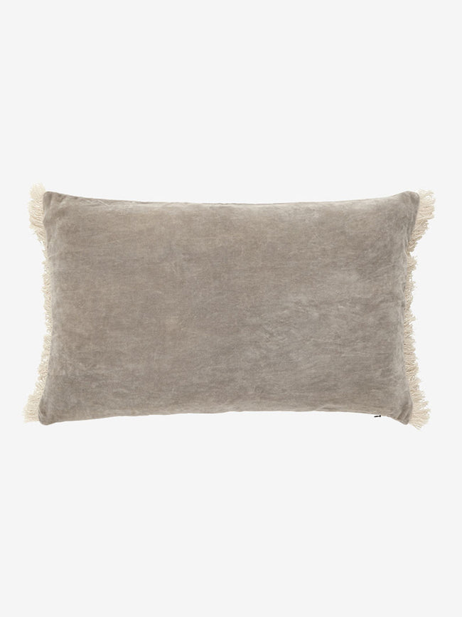 FRINGE CUSHION COVER - BEIGE