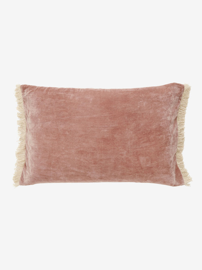 FRINGE CUSHION COVER - DUSTY ROSE