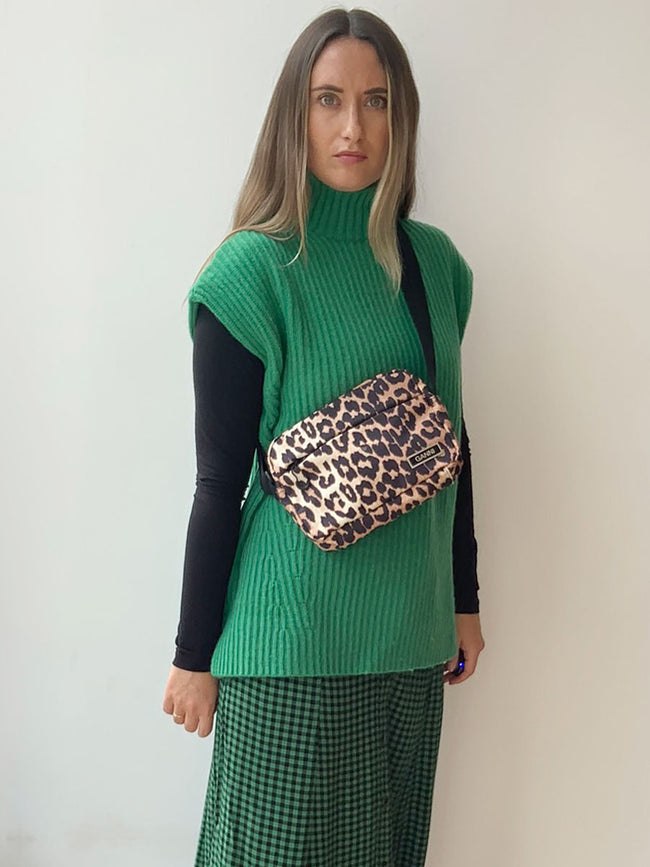 RECYCLED TECH FABRIC BAG - LEOPARD