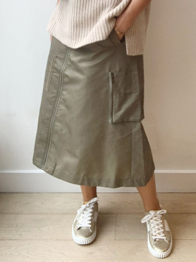 MILLA SKIRT - DUFFLE GREEN