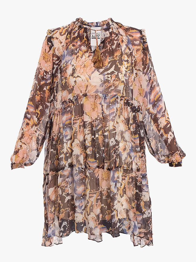 WHISPER FLORAL SHEER DRESS - MULTI FLORAL