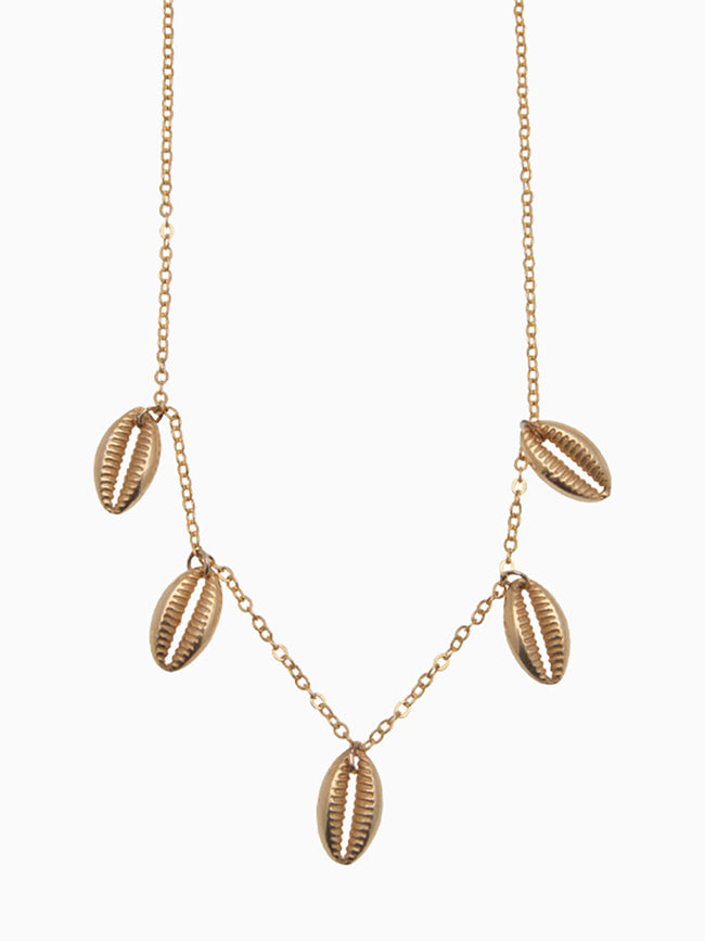 FINE CHAIN SHELL NECKLACE