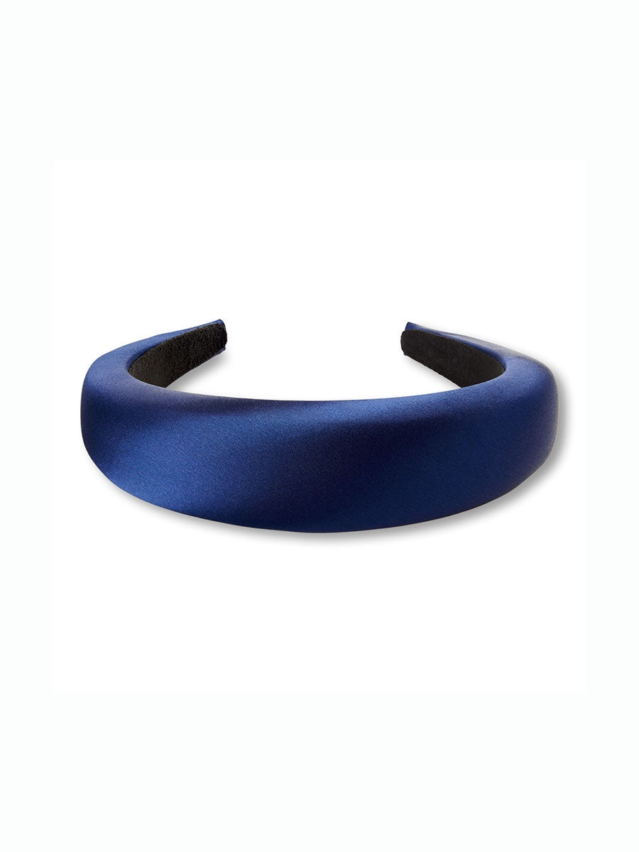 SATIN HEADBAND - DARK BLUE