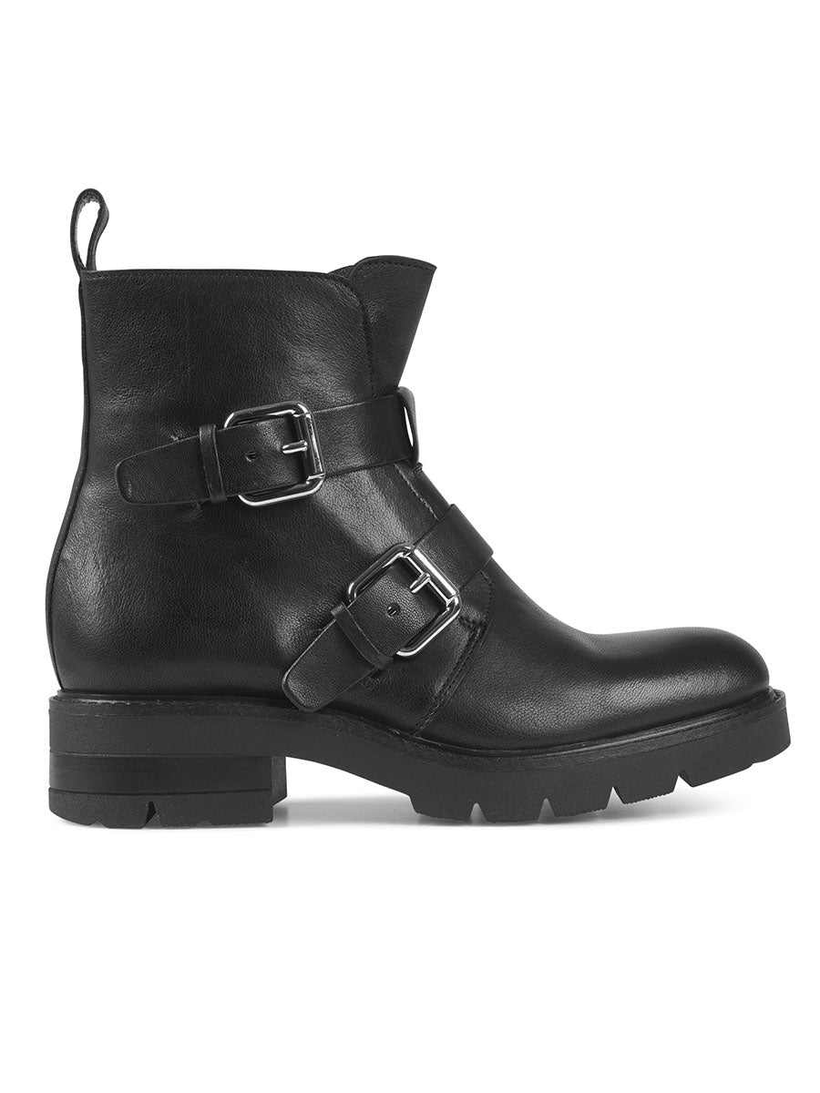 LOW BIKER BOOT - BLACK