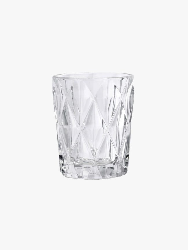 SMALL DIAMOND DRINKING GLASS - CLEAR