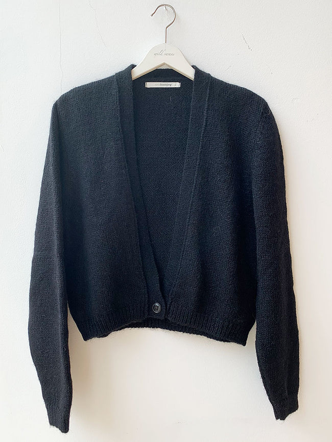 CELINE CROP CARDIGAN - BLACK