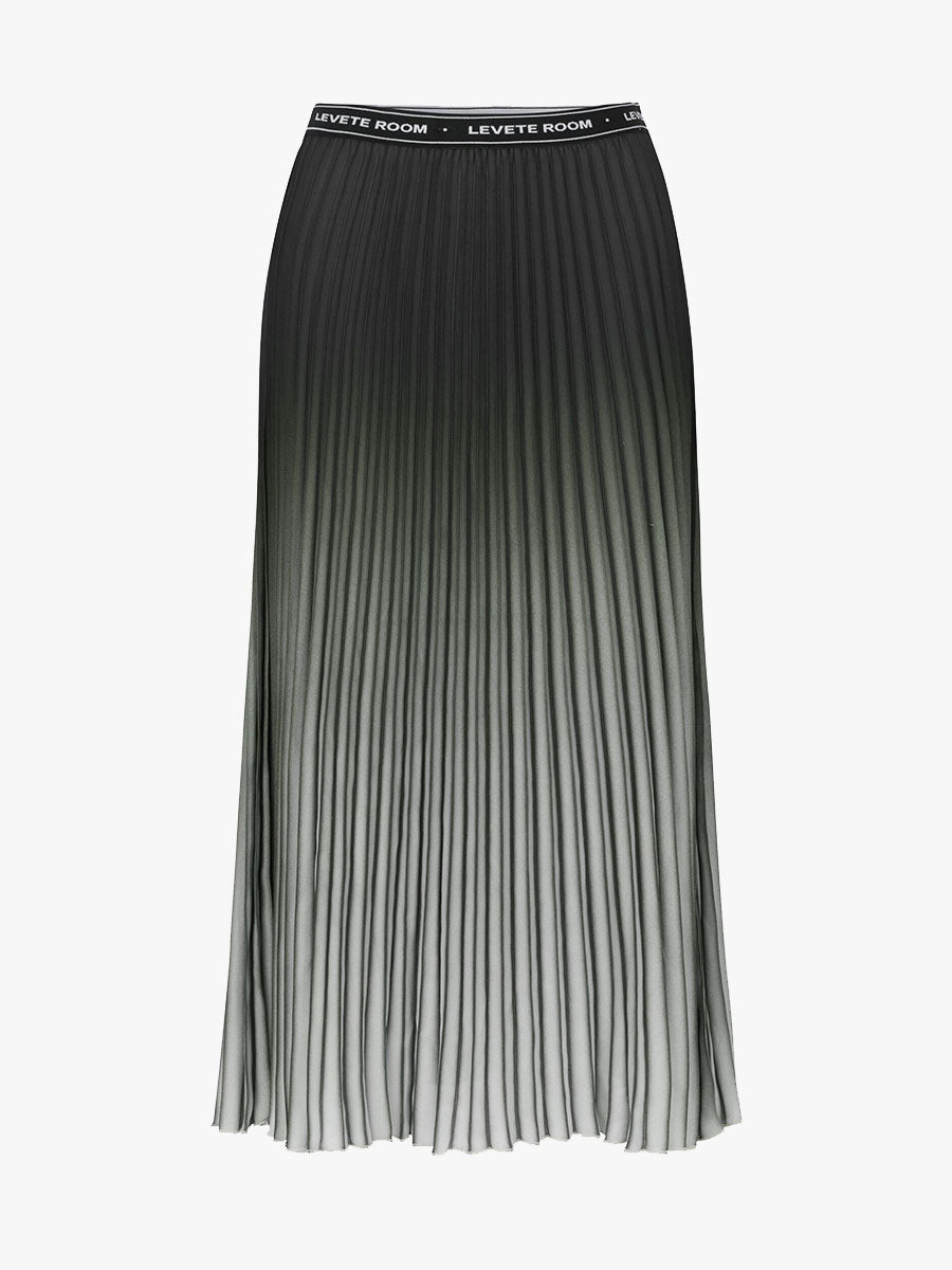 FABIANNA OMBRE PLEATED SKIRT - DUSTY OLIVE