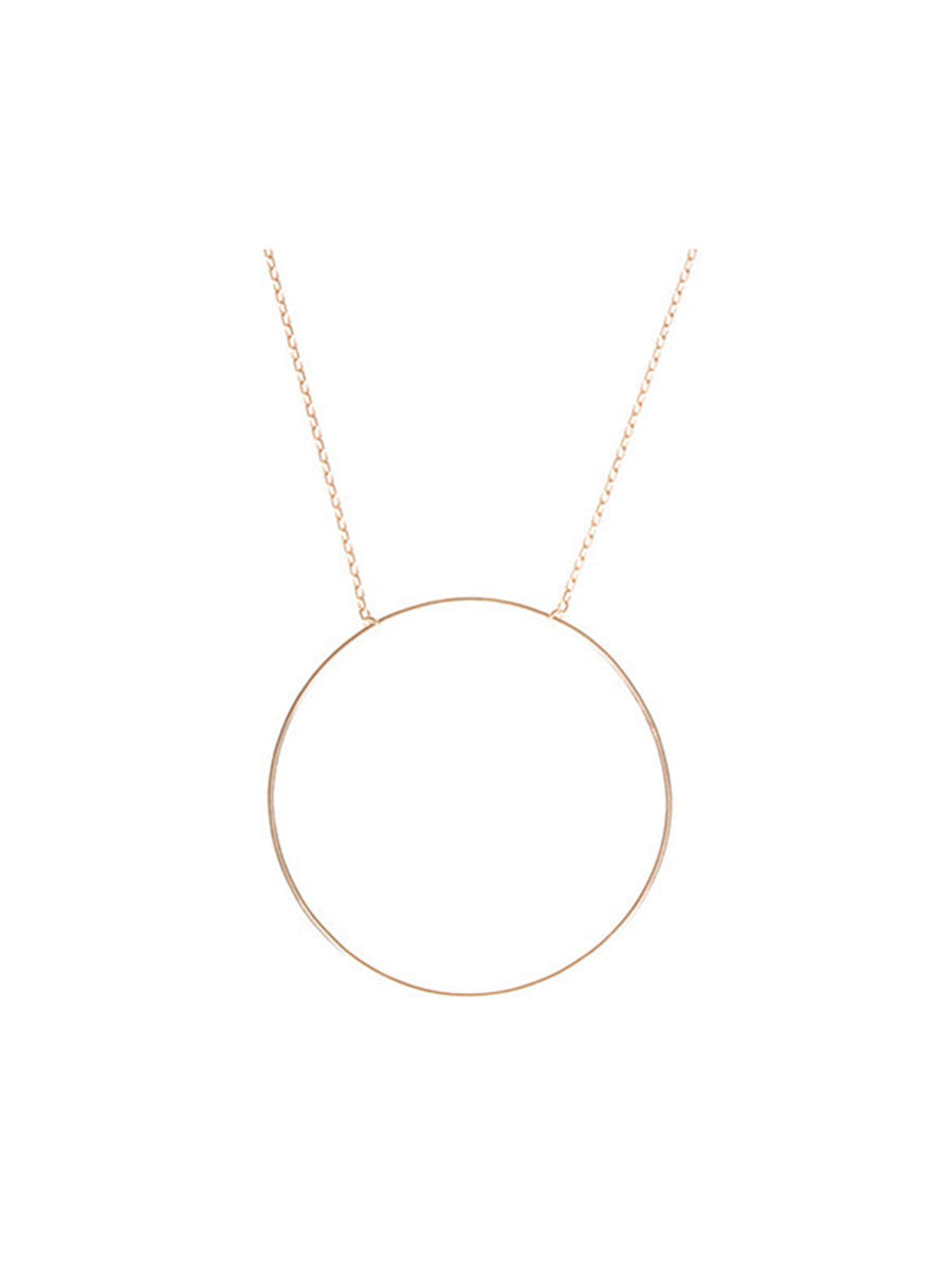 MONOCLE NECKLACE - ROSE GOLD