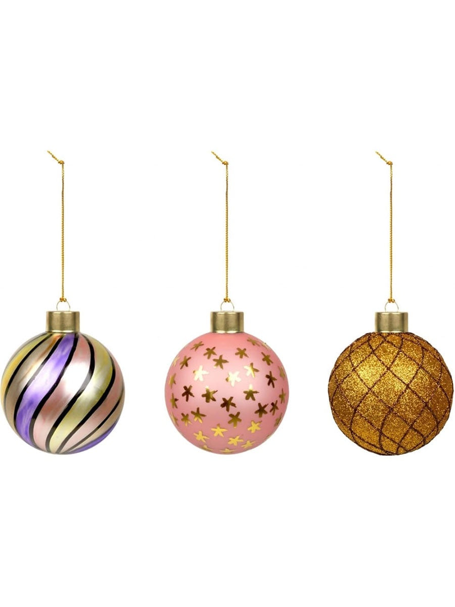 CHRISTMAS BAUBLES - PINK