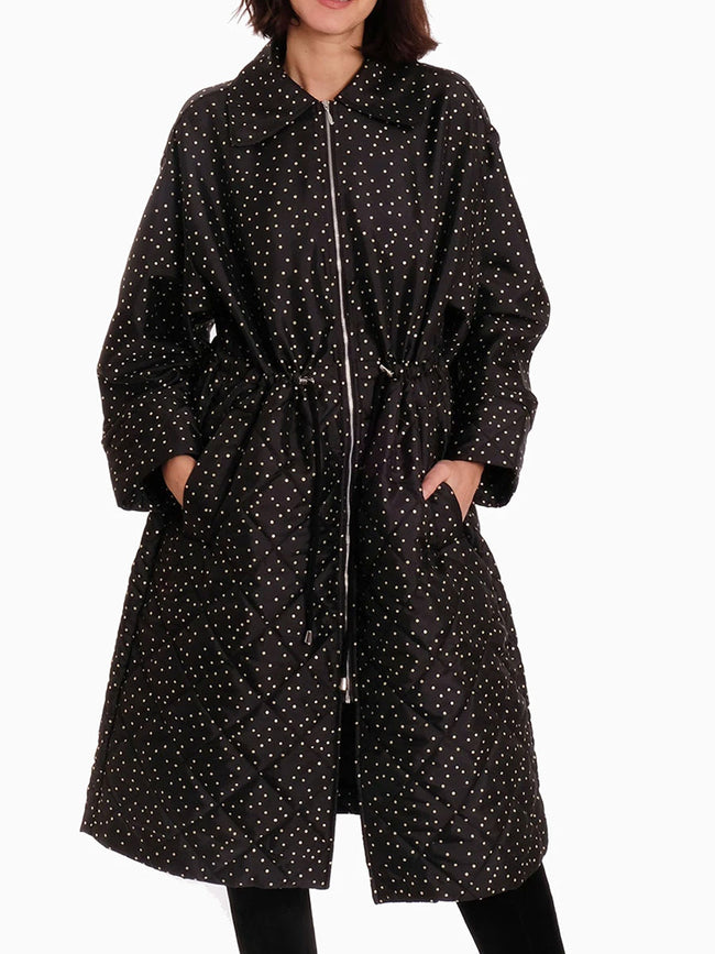 DILLIAN RAINCOAT - BLACK POLKA