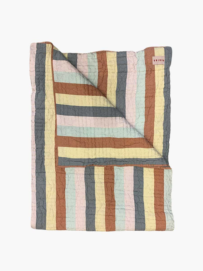 AGNES PATCHWORK QUILT - MULTICOLOUR
