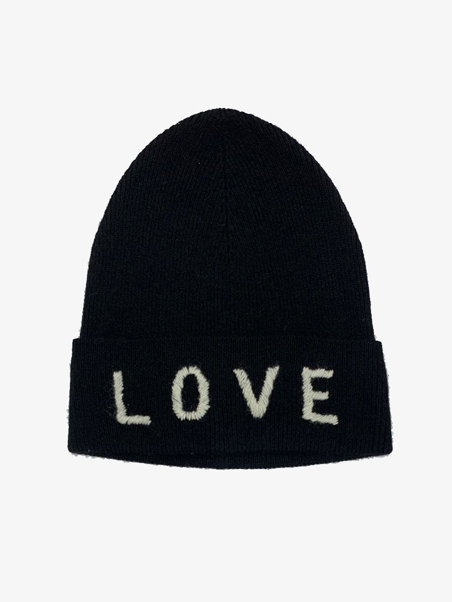 LOVE CASHMERE HAT BLACK