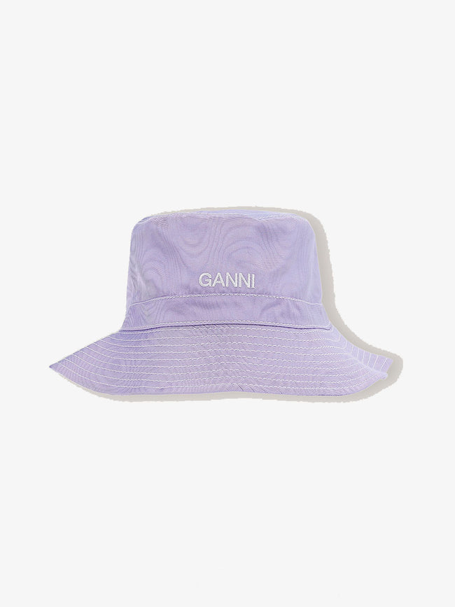 MOIRE ACCESSORIES BUCKET HAT - VIOLET TULIP