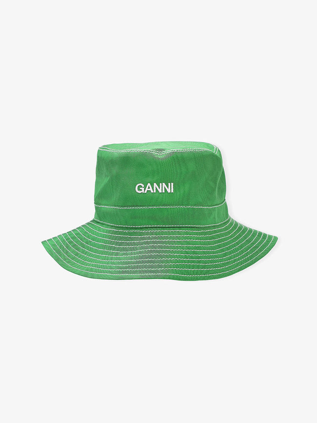MOIRE ACCESSORIES BUCKET HAT - ISLAND GREEN