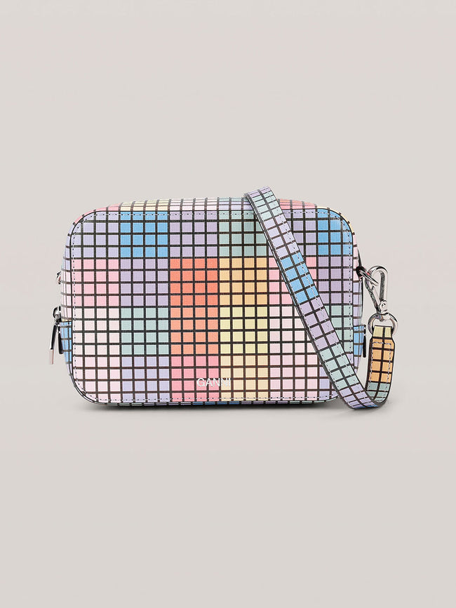 LEATHER CHECK BAG - MULTICOLOUR