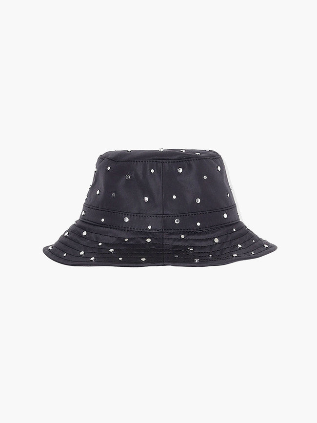 STUDDED NYLON HAT - BLACK