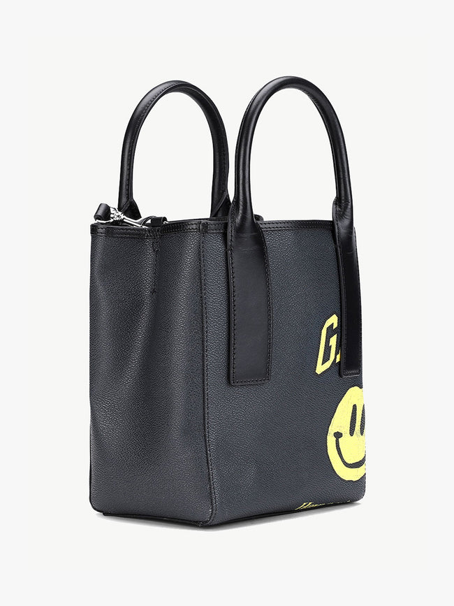 COATED CANVAS SMALL TOTE BAG - PHANTOM