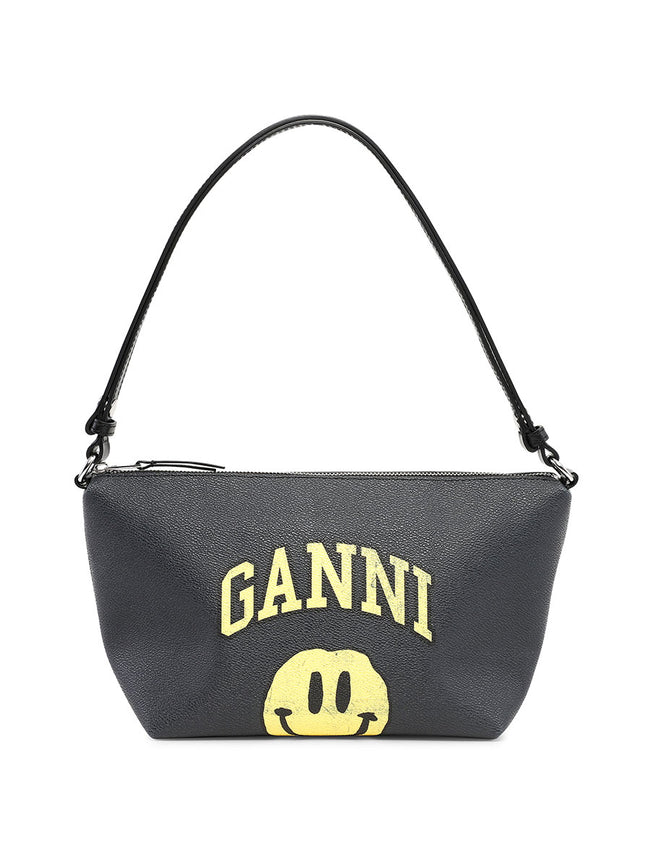 COATED CANVAS SHOULDER BAG - PHANTOM
