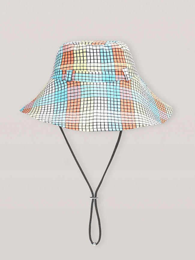 SEERSUCKER CHECK HAT - MULTICOLOUR
