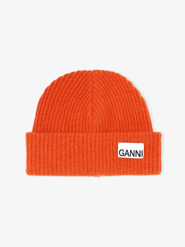 RECYCLED WOOL KNIT HAT - FLAME