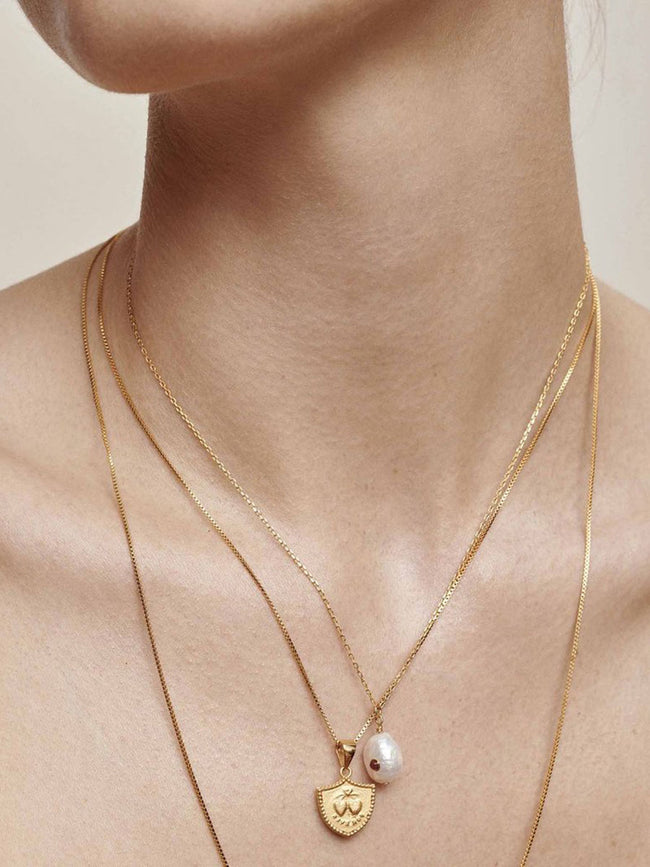 BAROQUE PEARL NECKLACE - CITRINE