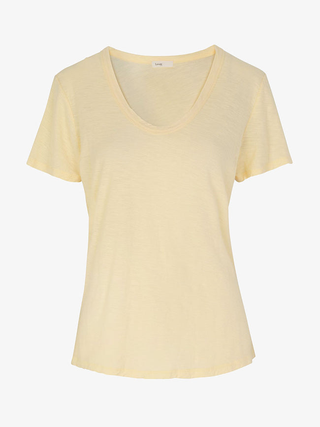 ANY2 SCOOP NECK T-SHIRT - CHAMOMILE
