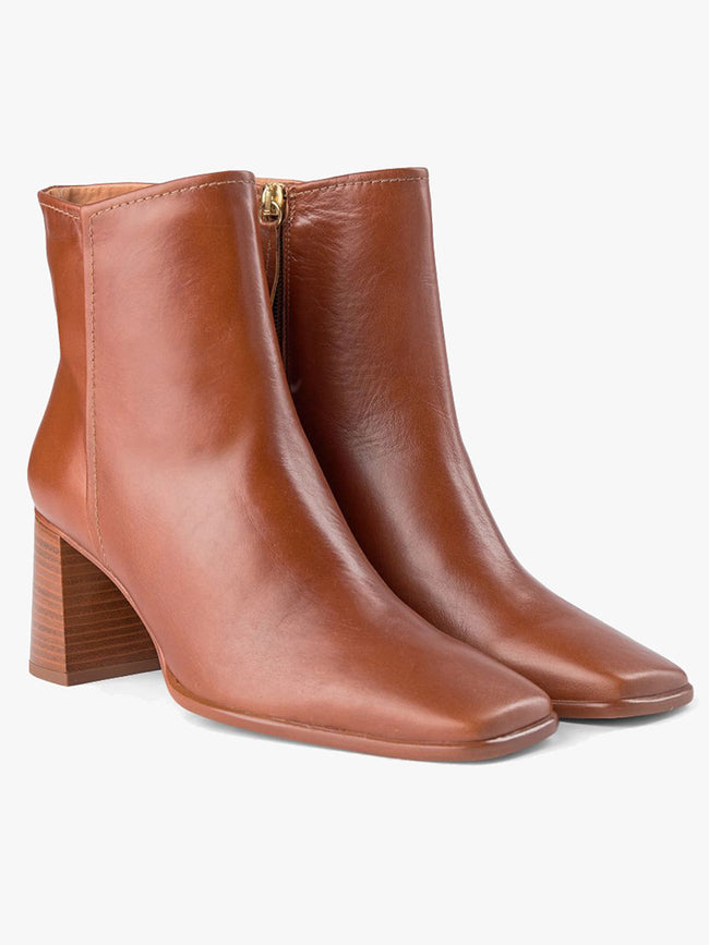 AGATA ANKLE BOOT - TAN