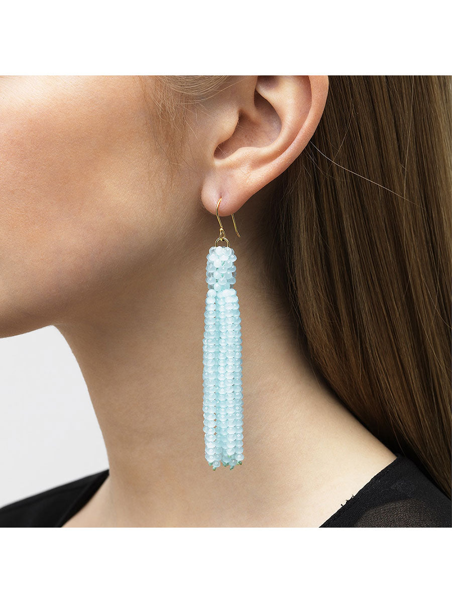 ALEXIS CRYSTAL TASSEL EARRINGS