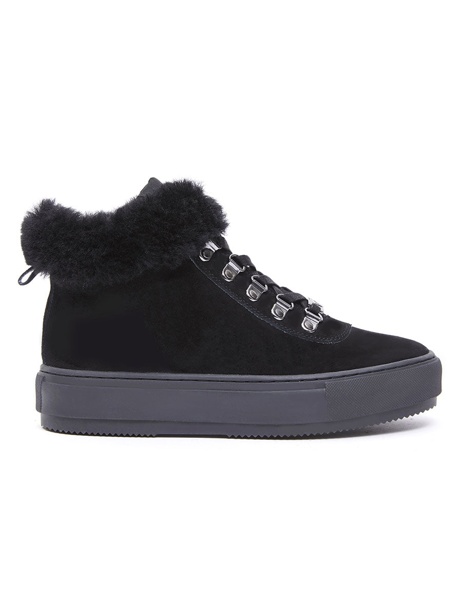 ALMA SUEDE BOOT - BLACK