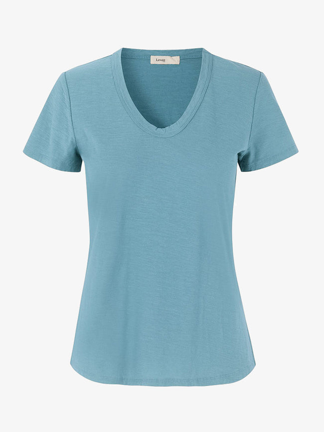 ANY2 SCOOP NECK T-SHIRT - CITADEL